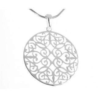 Mandala - Silber Anhänger plain - poliert