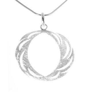 Ring - Silber Anhänger plain - gebürstet