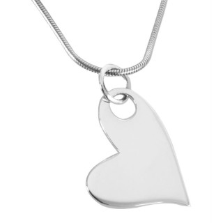 Herz schlicht - Silber Anhänger plain - poliert
