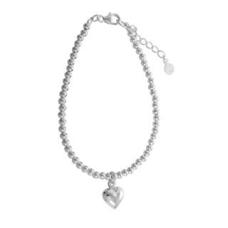 Silber Armschmuck -Mit Herz - poliert