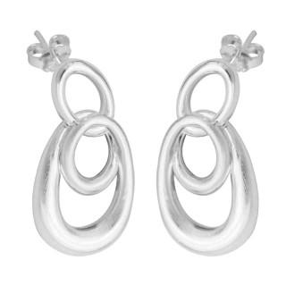 Valas - Silber Ohrringe plain - mattiert