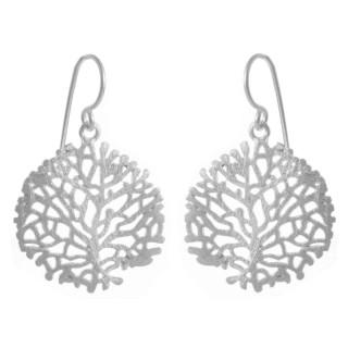 Arun - Silber Ohrringe plain - gebürstet