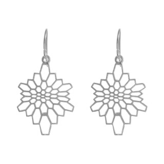 Ondi - Silber Ohrringe plain - gebürstet