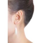 Leris - Silber Ohrringe plain - gebürstet