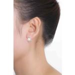 Tek - Silber Perlenohrringe - poliert