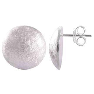 Narul - Silber Ohrstecker plain - gebürstet