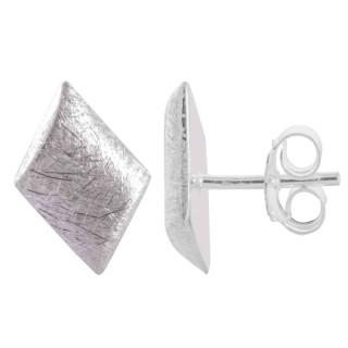 Erimo - Silber Ohrstecker plain - gebürstet