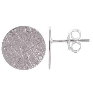 Mirek - Silber Ohrstecker plain - gebürstet