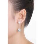 Geli - Silber Ohrringe Zirkonia - poliert