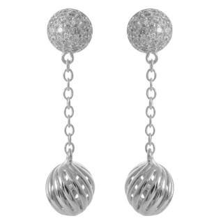 Bael - Silber Ohrringe Zirkonia - poliert