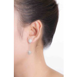 Bale - Silber Ohrringe Zirkonia - poliert