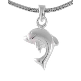 Dolphin - Silber Anhänger plain - poliert