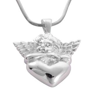 Engel-Herz - Silber Anhänger plain - poliert