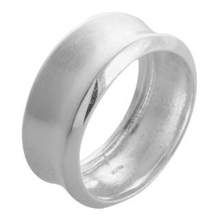 Gero - Silberring plain - mattiert/poliert