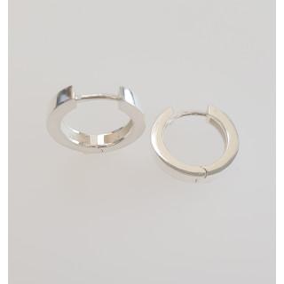 Creolen Plain - Silber  - poliert - ecp14198