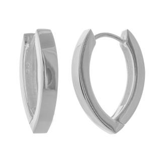 Creolen Plain - Silber  - poliert - ecp14193