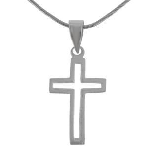 Kreuzanhänger-Silber  - mattiert - pca13589