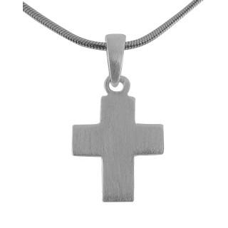 Kreuzanhänger-Silber  - mattiert - pca13591