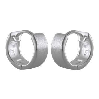 Creolen Plain - Silber  - mattiert - ecp14205