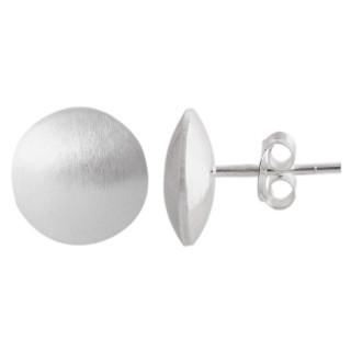 Plain-Silberohrstecker  - gebürstet - ESA15336