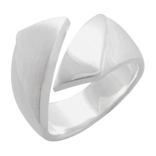 Plain-Silberringe  - mattiert und poliert - rpa17754