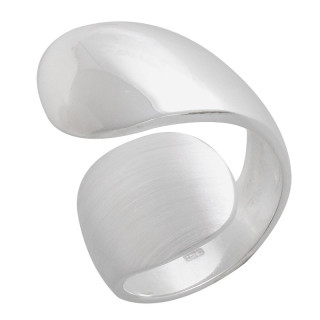 Plain-Silberringe  - mattiert und poliert - rpa17745
