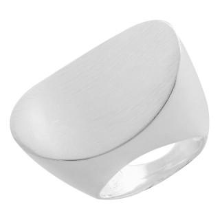 Plain-Silberringe  - mattiert und poliert - rpa17747