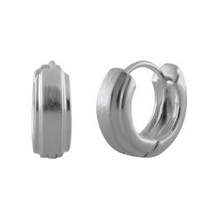 Creolen Plain - Silber  - mattiert und poliert - ecp14202
