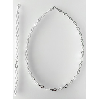 S52300 - Silber Collier-Armband