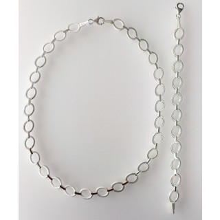 S70000 - Silber Collier-Armband