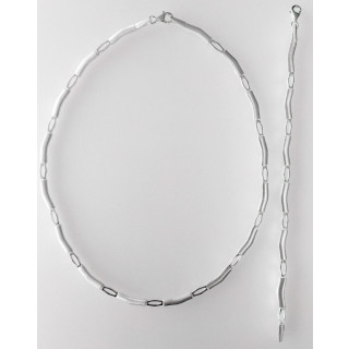 S70100 - Silber Collier-Armband
