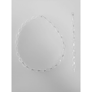 S72100 - Silber Collier-Armband