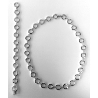 S68300 - Silber Collier-Armband