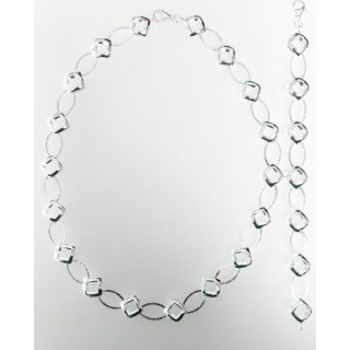 S42200 - Silber Collier-Armband