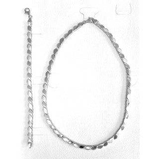 T45700 - Silber Collier-Armband