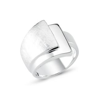 Silberring plain - poliert und gebürstet - RPA17780