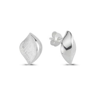 Silberohrstecke - ESA15492  - Gebürstet und Poliert