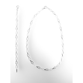 S48600 - Silber Collier-Armband