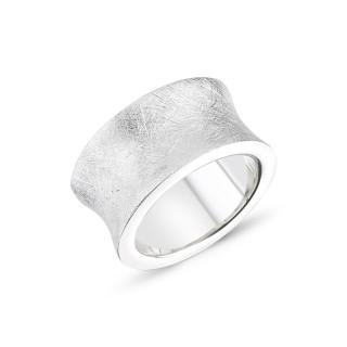 Silberring - mattiert und poliert - RPA17765
