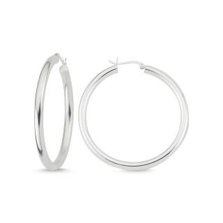 Silber Creolen - poliert - ECP14341