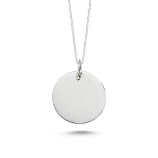 Silberanhänger -PPA16630 - poliert - rund