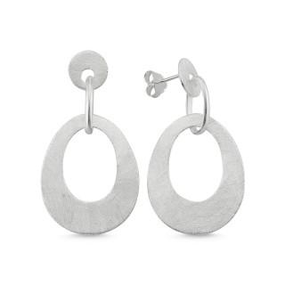 EPA11918 - Silber Ohrringe plain - poliert