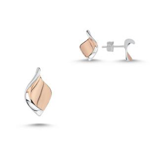 Silber Set plain  -SPA17327 - poliert und bicolor