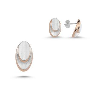 Silber Set plain  -SPA17330 - Gebürstet und bicolor