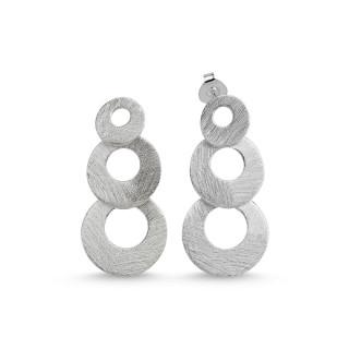 Silberohrringe -EPA12960  -3- Ringe übereinander