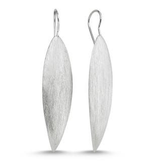 Silberohrringe -E1065-langes Blatt