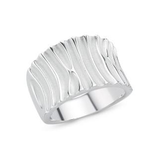 Silberring Rinne plain - poliert