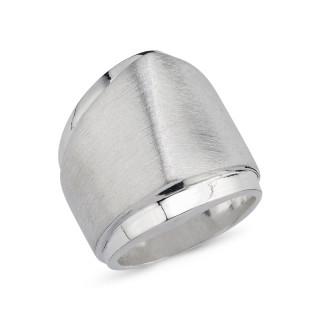 Silberring RPA17787 plain - poliert mattiert