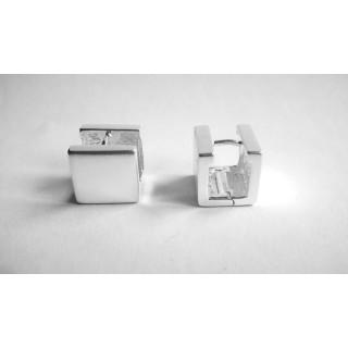Silber Creolen - ECP14318 - Cube