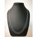 Silberkette - 50900 - Diamond cut, klein Oval